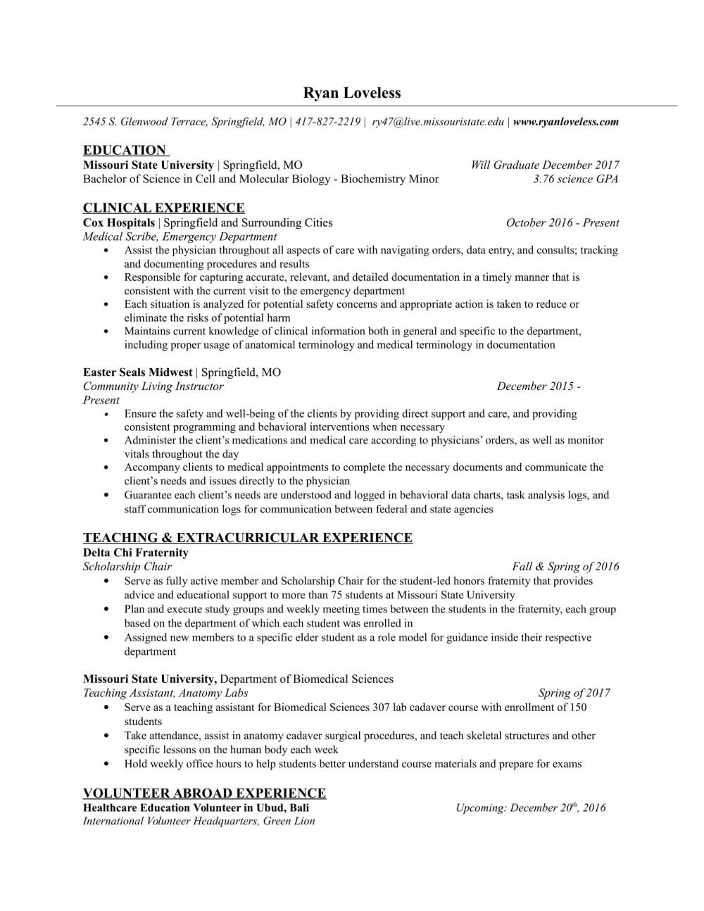 university student cv format ascend surgical cover letter for phd student biology - Sample Resume Phd Biochemistry